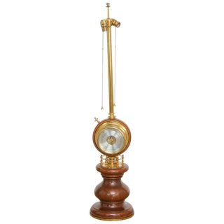 Nautical Style Clock Barometer Table Lamp by Stiffe
