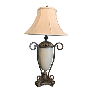 Hollywood Regency Table Lamp & Lamp Shade For Sale
