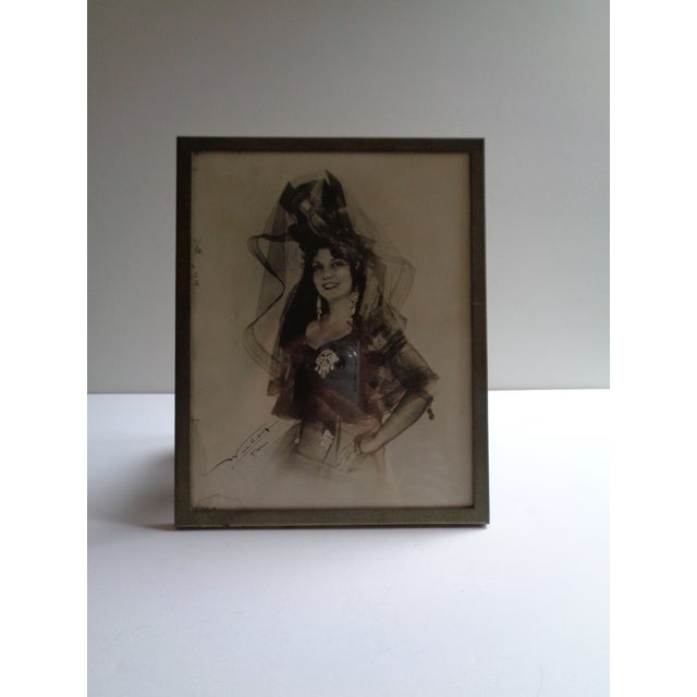 1931 Framed Photograph of Spanish Singer Conchita Supervia For Sale - Image 4 of 6