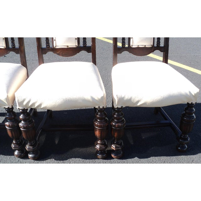 Wood Early 20th Century Antique Gothic Revival Chairs- Set of 4 For Sale - Image 7 of 10