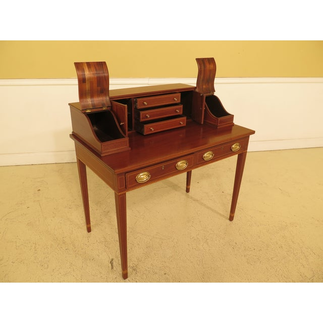1960s Federal Kittinger Biggs Federal Inlaid Mahogany Ladies Writing Desk For Sale - Image 10 of 13