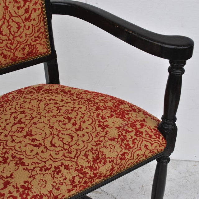 Black Pair of Louis XIII Style Ebonized Stools by Dennis and Leen For Sale - Image 8 of 11