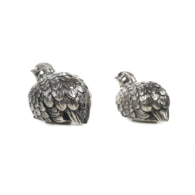 Gucci Pewter Quail Salt & Pepper Shakers For Sale In Los Angeles - Image 6 of 9