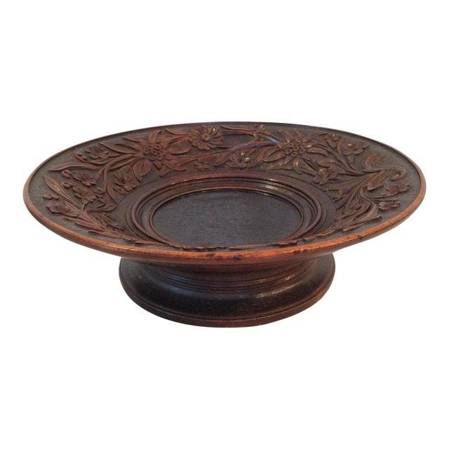 Antique Carved Wood Bowl - Image 1 of 6