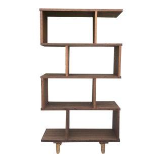 Mid-Century Modern Walnut Bookshelf For Sale