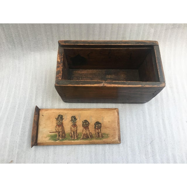 Antique Wooden Mystery Box For Sale - Image 10 of 11