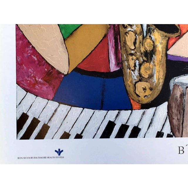 "Modern ""B' More Jazz"" Festival Poster by Keith Henderson For Sale In Atlanta - Image 6 of 10"