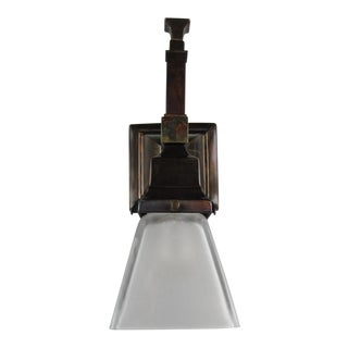 Arts & Crafts Mission Wall Sconce (Long Tail) For Sale