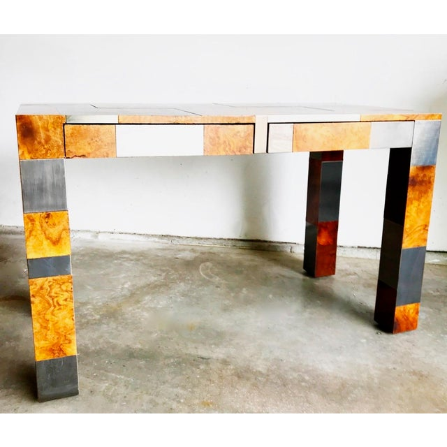 """This stunning one of a kind original """"Cityscape"""" desk by Paul Evans is an impressive midcentury addition to home or..."""