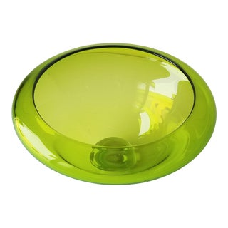 2000 M. Campbell Signed Glass Blown Bowl/Vase For Sale
