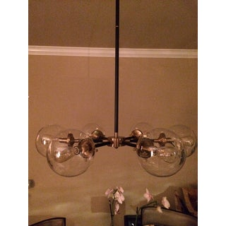 6 Light Glass Orb Chandelier Preview