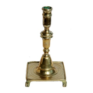 17th Century Spanish Brass Candlestick For Sale