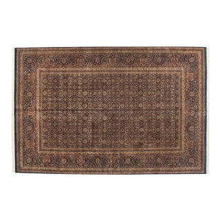 "Vintage Indian Doroksh Design Carpet - 11'8"" X 18' For Sale"