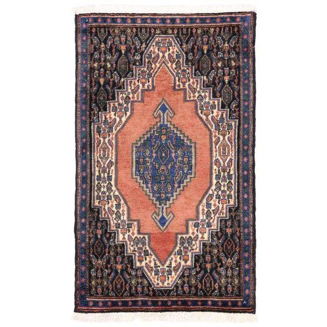 Vintage Sanadaj Persian Rug, Kitchen Rug, Foyer or Entry Rug, 02'02 X 03'07 For Sale In Dallas - Image 6 of 6