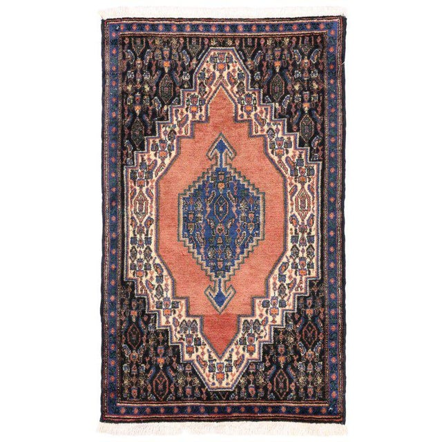Vintage Sanandaj Persian Rug, Kitchen Rug, Foyer or Entry Rug, 02'02 X 03'07 For Sale In Dallas - Image 6 of 6