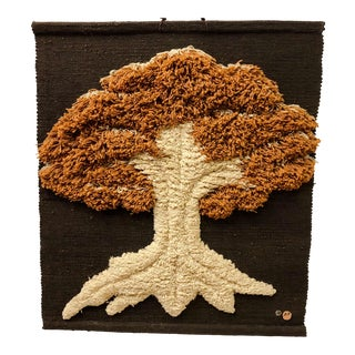 Don Freedman Macrame Wall Hanging of a Tree For Sale