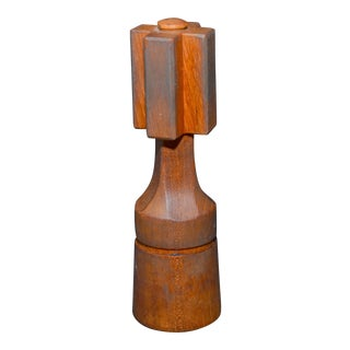Jens Quistgaard for Dansk Teak Cross Salt Shaker & Pepper Grinder