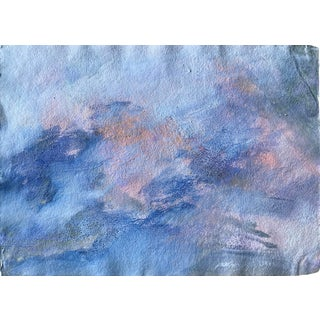 """1980s Large Abstract Painted by Bay Area Artist Patricia Zippin """"Ashland Ducks XX """" For Sale"""