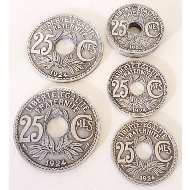 French Coin Beverage Coasters - Set of 8 - Image 2 of 4
