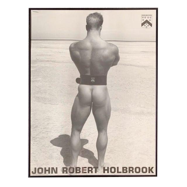 Black & White Photography John Robert Holbrook Framed Male Physique Print For Sale - Image 7 of 7