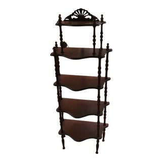 Wooden Asian Display Chinoserie Shelf For Sale