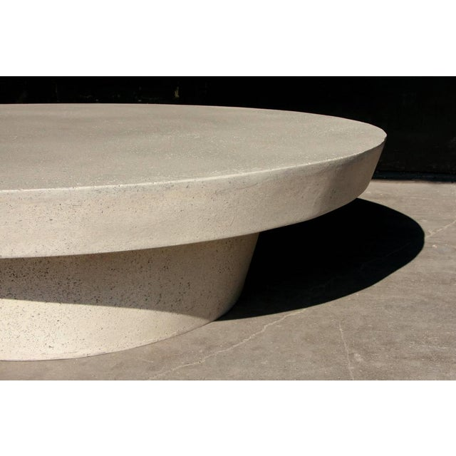 Cast Resin 'Cashi' Cocktail Table, White Stone Finish by Zachary A. Design For Sale - Image 4 of 6