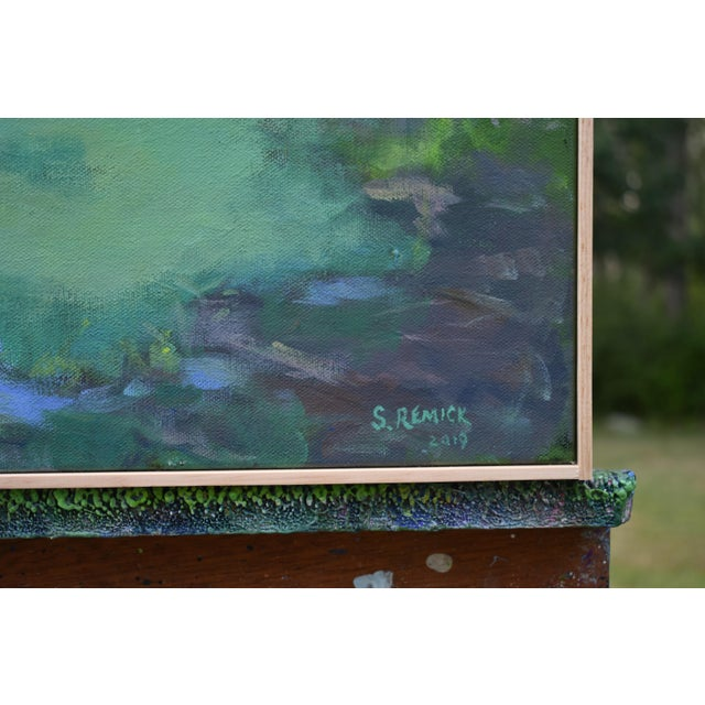 """Stephen Remick """"Ocean Through the Trees"""" Contemporary Plein Air Painting For Sale In Providence - Image 6 of 12"""