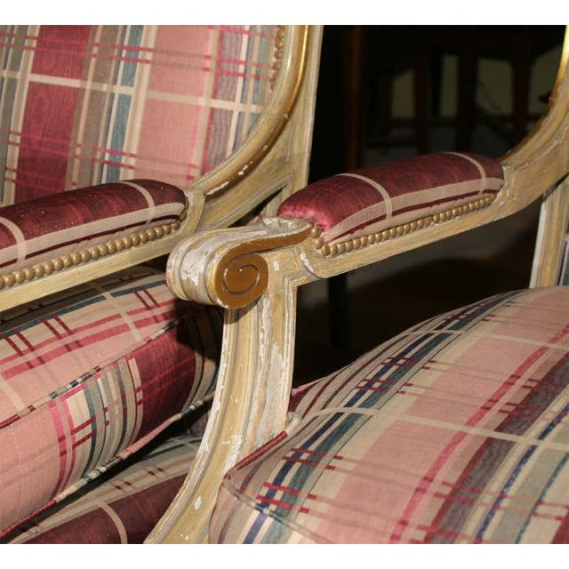 Ruby Red Fabulous French Bergere Chair by Jansen For Sale - Image 8 of 13