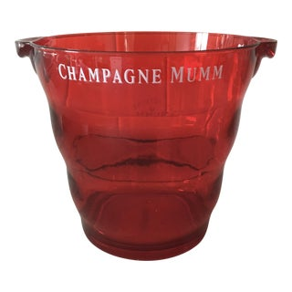 Ruby Red Lucite G. H. Mumm & Co. Champagne Bucket