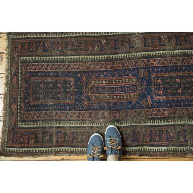 "Cottage Antique Belouch Rug Runner - 2'8"" x 4'8"" For Sale - Image 3 of 10"