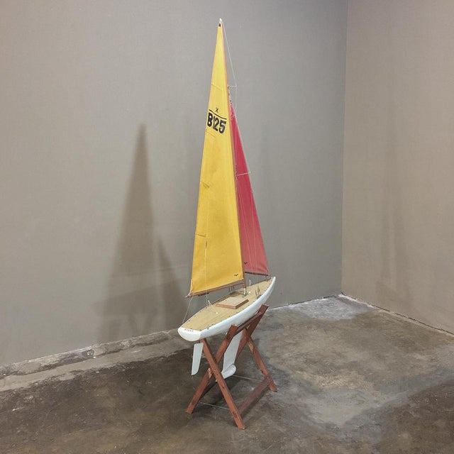 Mid 20th Century Mid-Century Scale 12 Meter Racing Yacht For Sale - Image 5 of 11
