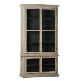 Weathered Grey Reclaimed Wood Cabinet For Sale