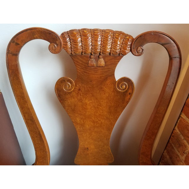 Original 1930s Burlwood Maple Side Chair For Sale In Raleigh - Image 6 of 11