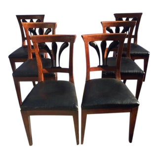 Vintage Biedermeier Dining Chairs - Early 19th Century Set of 6