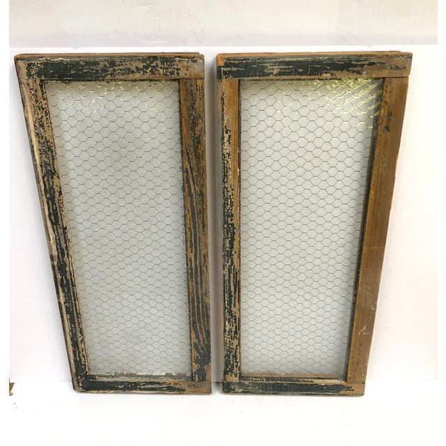 Antique windows -- circa 1890s. Salvaged from a police station in St. Louis Missouri. Heavy florentine frosted glass with...