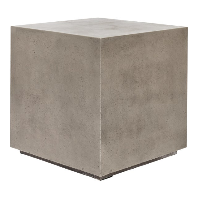 Dark Grey Bloc End Table For Sale