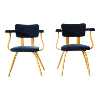 Mid-Century Modern Bentwood Armchairs in the Style of Ettore Sottsass For Sale