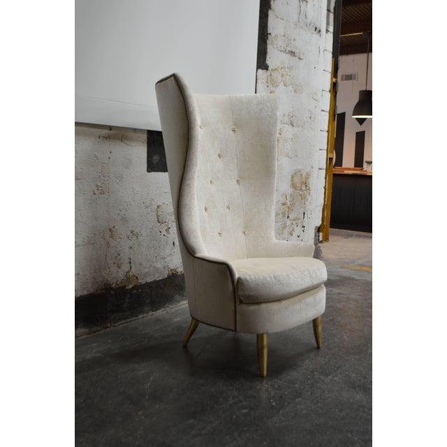 Custom Gudinna Tall Barrel Wing Chair For Sale In Atlanta - Image 6 of 9