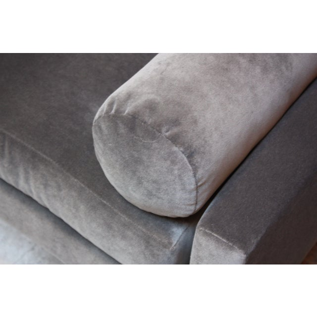 Adrian Pearsall for Craft Associates 'Gondola' Sofa in Walnut and Velvet For Sale - Image 12 of 13