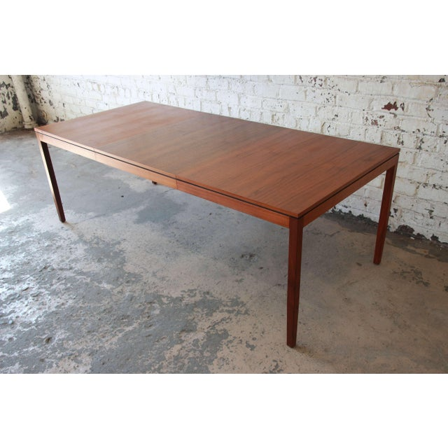 1957 Vintage Florence Knoll for Knoll International Walnut Extension Dining Table - Image 5 of 10