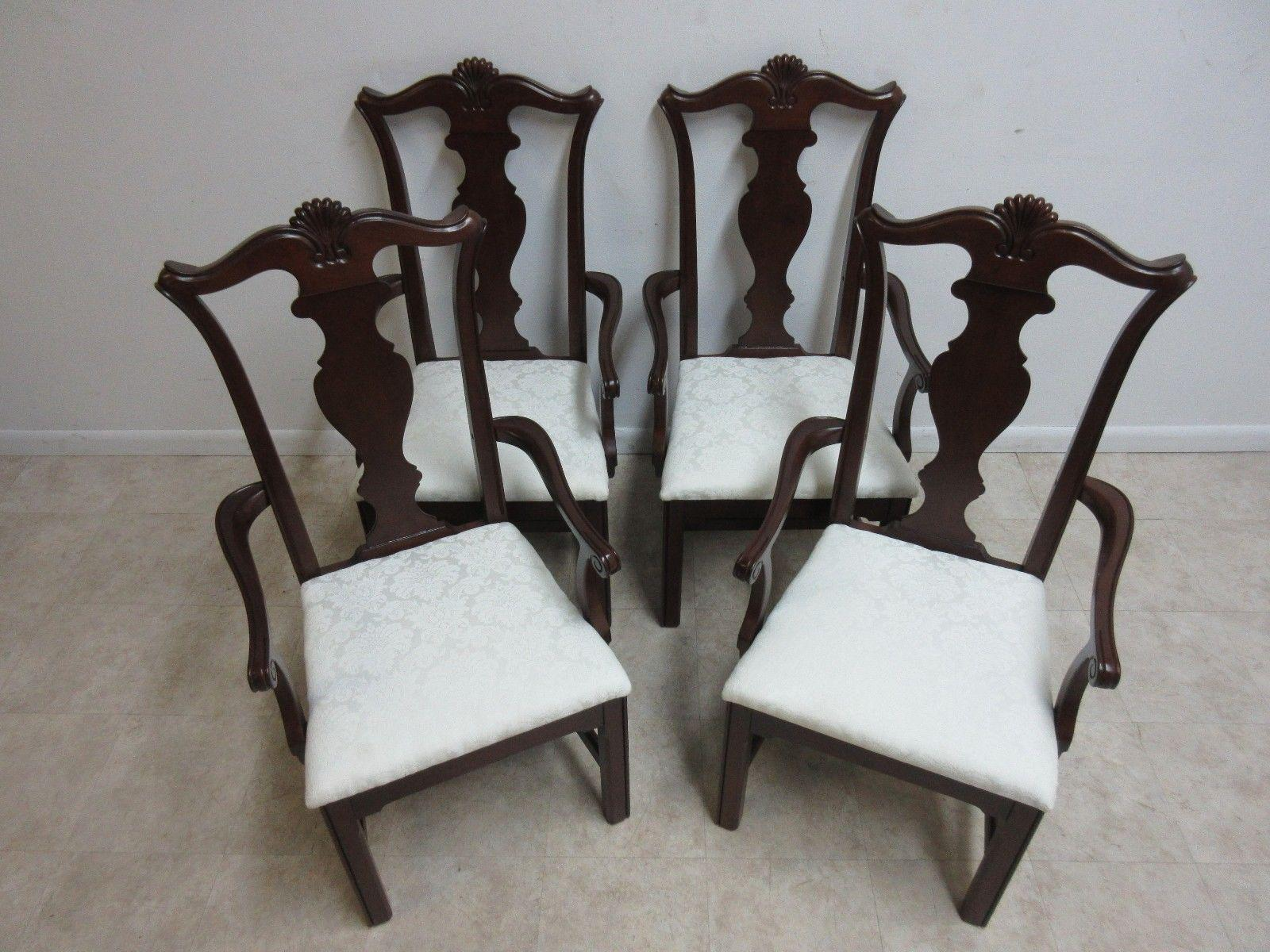 Pennsylvania House Cherry Shell Carved Dining Room Arm Chairs   Set Of 4    Image 3