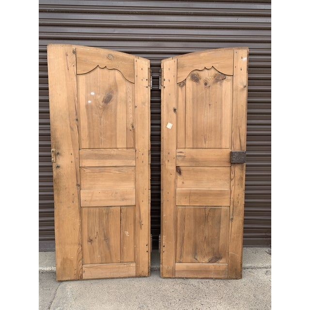 18th C Antique French Walnut Armoire Doors - a Pair For Sale - Image 10 of 13