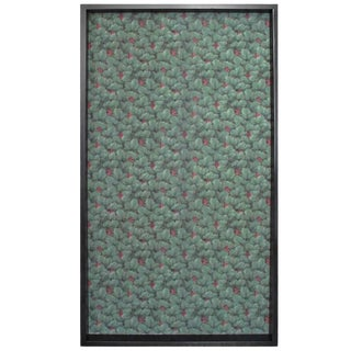 Framed 19th Century Floral Wallpaper Panel - Velvet Musk For Sale