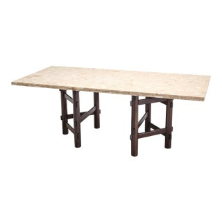 Modern Terazzo Marble Dining Table by Jan Vlug For Sale