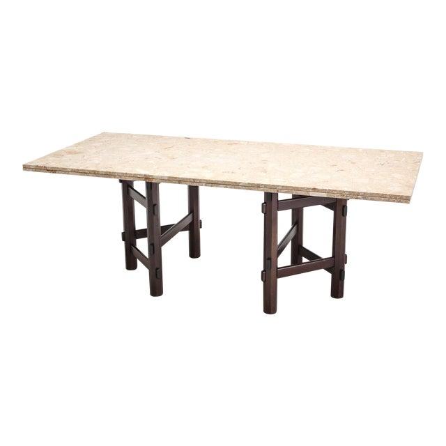 Modern Terazzo Marble Dining Table by Jan Vlug For Sale