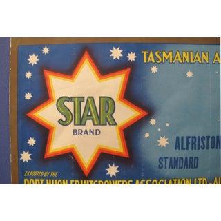 1920's Original Vintage Australian Art Deco Apples Crate Label - Star Brand - Tasmanian Apples Preview
