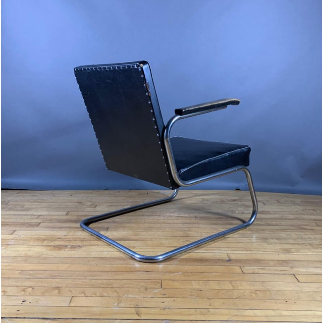 1950s Drabert Germany Cantilever Armchair For Sale - Image 9 of 12