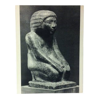 """Circa 1970 """"Hetepdief"""" Iind Dynasty Great Sculpture of Ancient Egypt Print For Sale"""