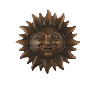 Smiling Sunface Bronze Door Knocker