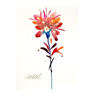 Blue Stem Original Watercolor Painting For Sale